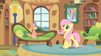 Fluttershy taking care of Philomena S01E22
