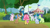 Foals gather around Thunderlane and Rumble S7E21