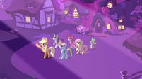 Main 5 and Spike outside the library S03E13