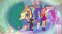 Memory of Equestria Girls talking to Trixie EGFF