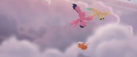 Pegasi swoop down through the clouds MLPTM