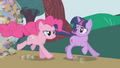 Pinkie galloping next to Twilight S1E10.png