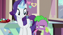 Rarity having Spike taste a red gem S9E19