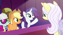 Rarity votes for Lily Lace S7E9