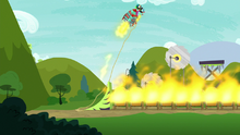 Scootaloo's rocket shoots upward S8E20