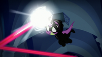 Spike deflecting one of the lasers S9E4