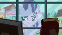 Starlight looking through bookstore window S8E8