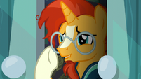 Sunburst nervously straightens his glasses S6E1