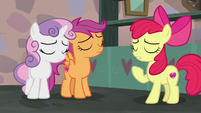 The Cutie Mark Crusaders learn their lesson S7E8