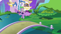 Twilight and Spike take off S4E01