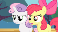 Apple Bloom and Sweetie Belle angry S4E05