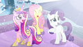 Cadance, Fluttershy, and Rarity happy seeing Flurry Heart S6E2.png