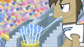 Dr. Hooves picking up an arrow S4E24.png