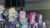 Equestria Girls watching the stage EGDS50