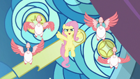 Fluttershy unleashing the power of geese S9E24