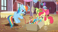 Getting streamers for Applejack's surprise party S2E14.png