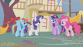 Main 4 ponies and Spike wonder where Applejack has been S1E04.png