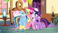Pinkie Pie hugging all of her friends S4E18.png