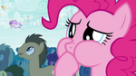 Pinkie Pie plugging her mouth S4E16