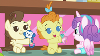 Pound and Pumpkin share their toys with Flurry S7E3