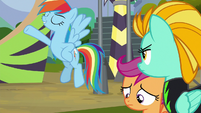 Rainbow Dash strikes a showy pose S8E20