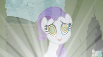 Rarity with swirly eyes S2E01