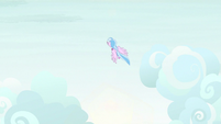 Silverstream following Rainbow's flight path S9E3