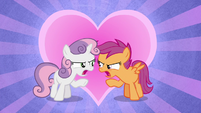 "Sweetie Belle and Scootaloo ""this is the end!"" S8E6"