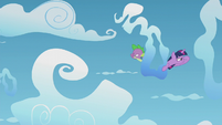 Twilight and Spike looking for Starlight S5E25