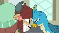 Yona facing off with Gallus S8E1