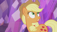 "Applejack ""the pony who finds this rock"" S5E20"