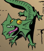 Comic issue 3 frill-necked lizard