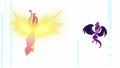 Daydream Shimmer and Midnight Sparkle in a white void EG3.png