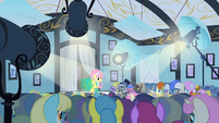 Fluttershy on the catwalk S1E20