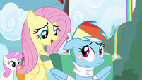 Fluttershy takes care of Rainbow S4E10