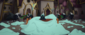 Grubber sitting in a pile of cake icing MLPTM.png