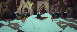 Grubber sitting in a pile of cake icing MLPTM