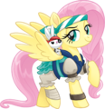 MLP The Movie Pirate Fluttershy and Angel official artwork.png