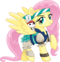 MLP The Movie Pirate Fluttershy and Angel official artwork