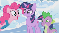 Pinkie Pie asks Twilight -But did I make you feel better-- S1E11