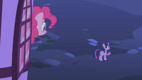 Pinkie looking at Twilight S1E25
