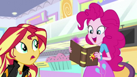 Pinkie picks up Sunset Shimmer's journal EGS3