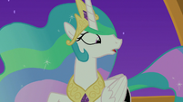 Princess Celestia notices Starlight sleeping S7E10