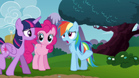 "Rainbow ""because there wasn't any breeze up there"" S4E26"