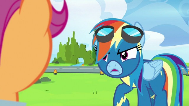 """File:Rainbow Dash """"have a delicate relationship"""" S7E7.png"""