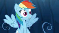 Rainbow Dash in complete shock S9E2