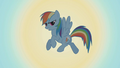 Rainbow Dash in front of the sun S1E06.png
