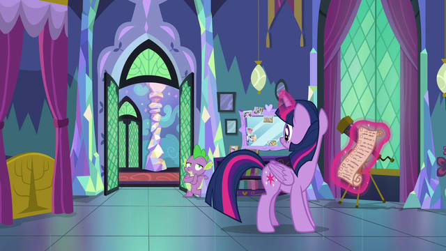 """File:Spike """"we're a good team, Sparkle!"""" S7E1.png"""