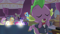 Spike adjusting his bowtie S4E13
