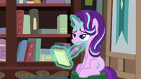 Starlight Glimmer taking lecture notes S8E8